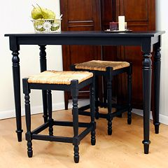 Carolina Cottage 3 pc Hawthorne Bar Table Set