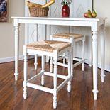 Carolina Cottage 3-pc. Hawthorne Bar Table Set