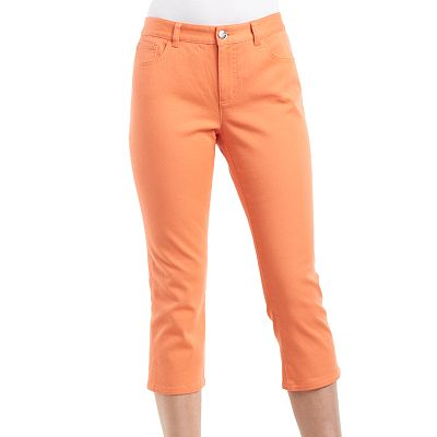 Chaps Color Denim Capris - Petite