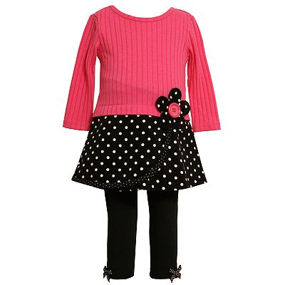 Bonnie Jean Dotted Dress and Leggings Set - Girls 7-12