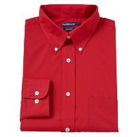 Men's Croft & Barrow® Fitted Solid Easy Care Button-Down Collar Dress Shirt