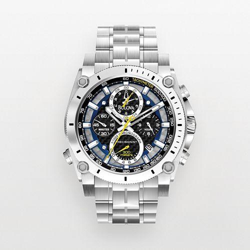 Bulova Men's Precisionist Stainless Steel Chronograph Watch - 96B175 pantip