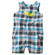 Carter's Plaid Alligator Sunsuit - Baby