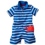 Carter's Striped Crab Polo Romper - Baby