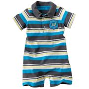 Carter's Striped Polo Romper - Baby