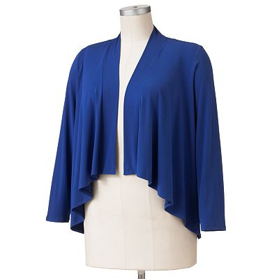 Dana Buchman Draped Open-Front Cardigan - Women's Plus