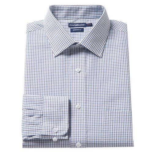 0bdf090e5 Men's Croft & Barrow® Slim-Fit Easy Care Spread-Collar Dress Shirt