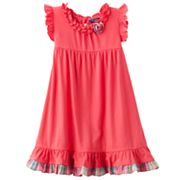 Chaps Plaid-Trim Sundress - Toddler