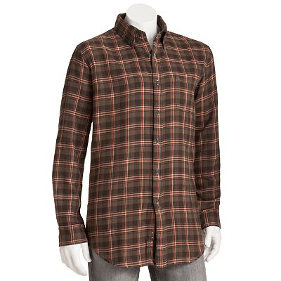 Croft and Barrow Plaid Flannel Casual Button-Down Shirt