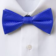Croft and Barrow Solid Satin Natte Pretied Bow Tie