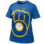 Nike Milwaukee Brewers Burnout Tee - Women