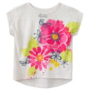 Mudd Butterfly Lace-Piece Top - Girls 4-6x
