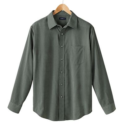Croft and Barrow Classic-Fit Striped Microfiber Casual Button-Down Shirt