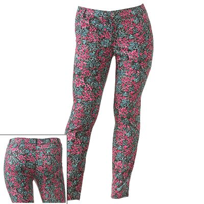 SO Floral Skinny Pants - Juniors' Plus