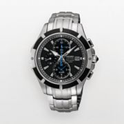 Seiko Silver Tone Chronograph Watch - SNAF11 - Men