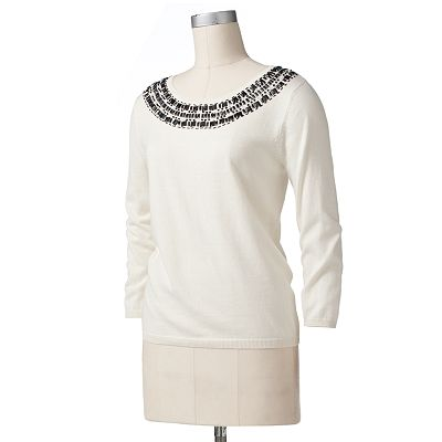Dana Buchman Embellished Sweater