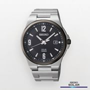 Seiko Silver Tone Solar Watch - SNE211 - Men