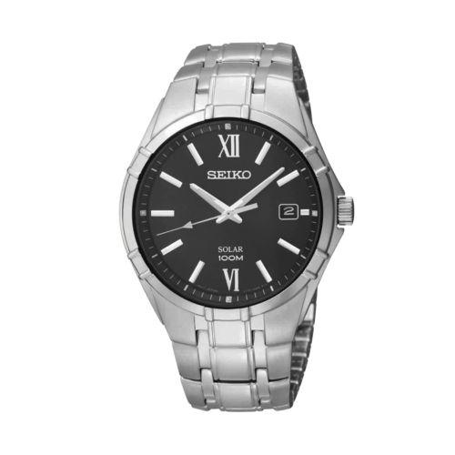 Seiko Silver Tone Solar Watch - SNE215 - Men