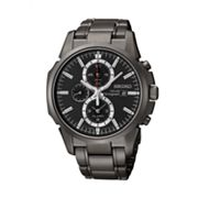 Seiko Solar Black Chronograph Watch - SSC095 - Men