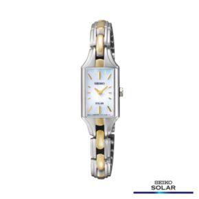 Seiko Women's Two Tone Solar Watch - SUP164