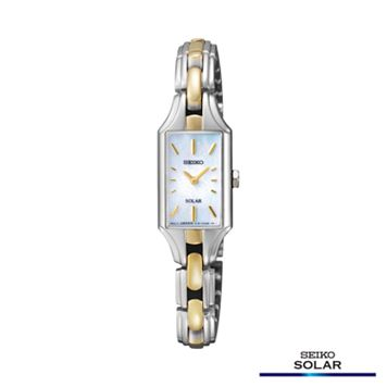 Seiko Women's Two Tone Solar Watch - SUP164