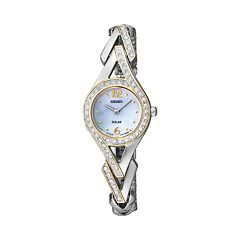 Seiko Women's Two Tone Solar Watch - SUP174