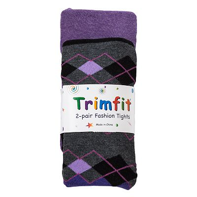 Trimfit 2-pk. Argyle Tights - Girls