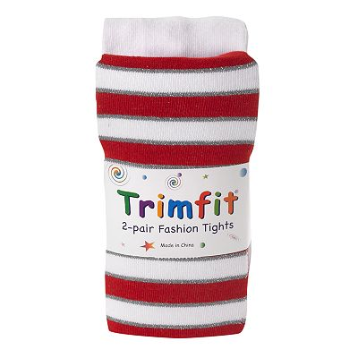 Trimfit 2-pk. Striped Tights - Girls