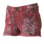 Rock and Republic Lolita Cheetah Denim Shorts