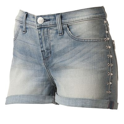 Rock and Republic Bombershot Embellished Denim Shorts