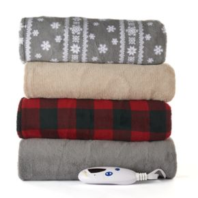 Biddeford Heated Plush Throw