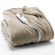 Biddeford Solid Plush Electric Throw