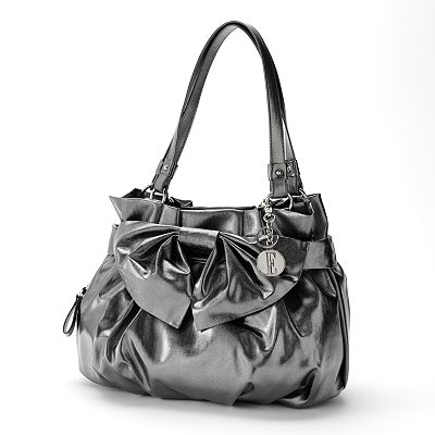 ELLE Desiree Metallic Bow Shopper