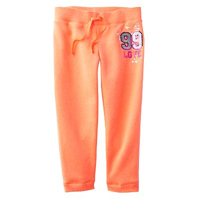 SO 99 Love Neon Fleece Active Capris - Girls 7-16