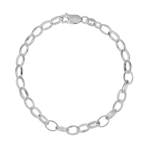 Sterling Silver Rolo Chain Bracelet - 7-in.
