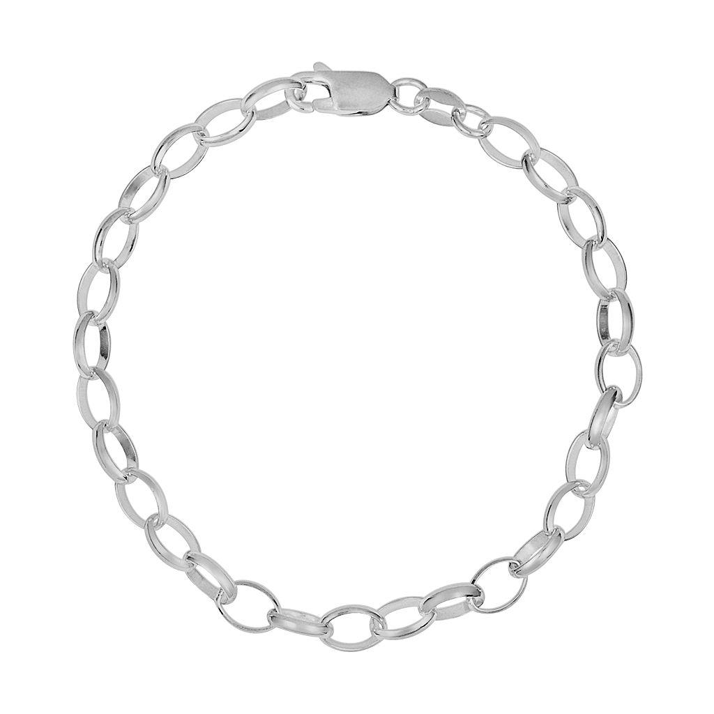 Sterling Silver Rolo Chain Bracelet - 8-in.