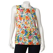 Chaps Paisley Top - Women's Plus