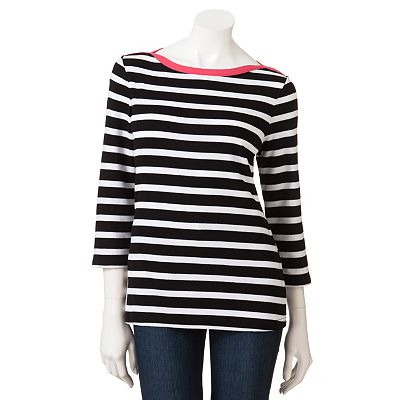 Croft and Barrow Striped Tee