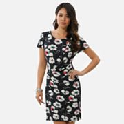 daisy fuentes Floral Pleated Dress