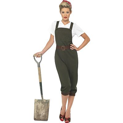 WW2 Land Girl Costume - Adult