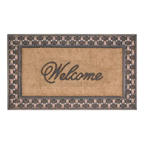 Koko Basket Weave Welcome Doormat