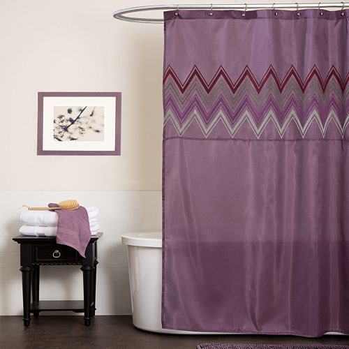 Lush Decor Myra Fabric Shower Curtain