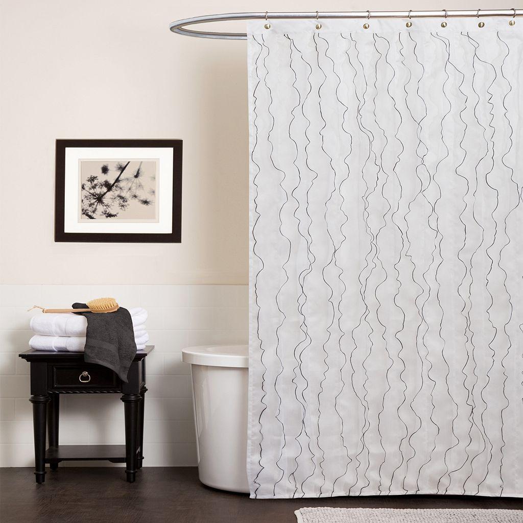 Lush Decor Romana Fabric Shower Curtain
