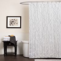 Lush Decor Romana Fabric Shower Curtain