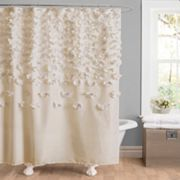 Lush Decor Lucia Fabric Shower Curtain