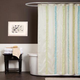 Lush Decor Aria Fabric Shower Curtain