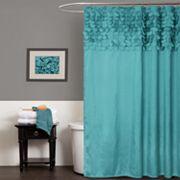 Lush Decor Lillian Fabric Shower Curtain