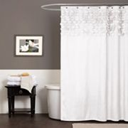 Lush Decor Lillian Fabric Shower Curtain