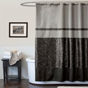 Lush Decor Crocodile Fabric Shower Curtain