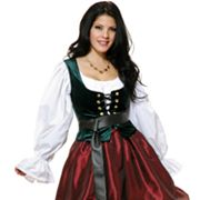 Evergreen Corset Bodice Costume - Adult
